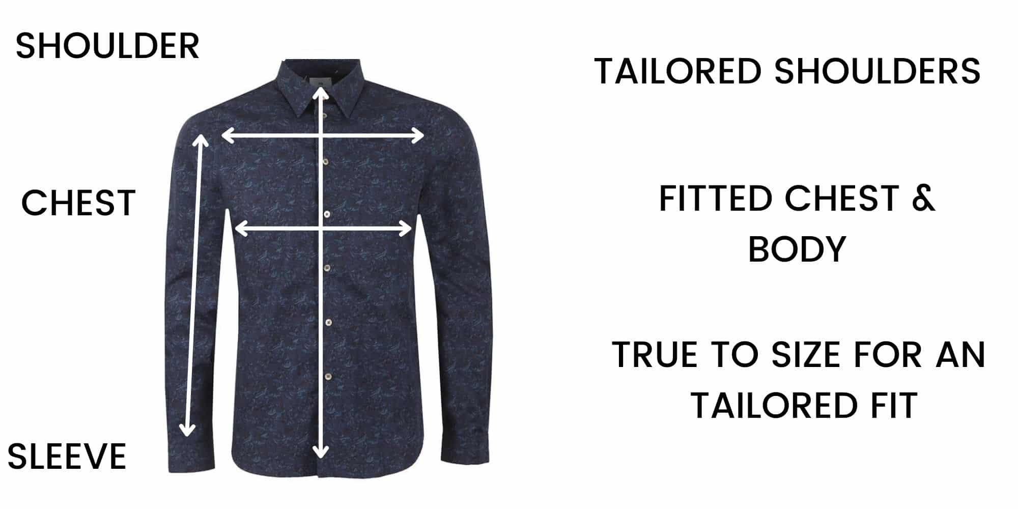 Paul Smith shirts Size Chart