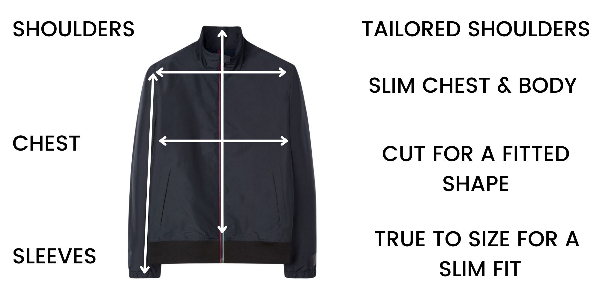 Paul Smith Casual Jackets Size Guide
