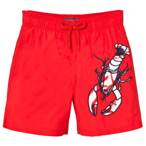VILEBREQUIN Red Lobster Embroidered Swimming Trunks