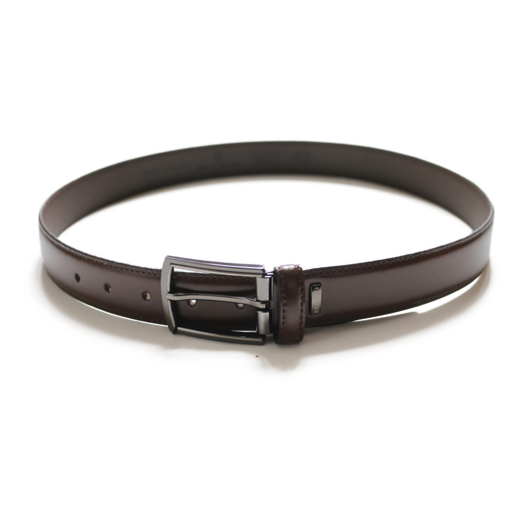MIGUEL BELLIDO SMOOTH LEATHER BROWN BELT