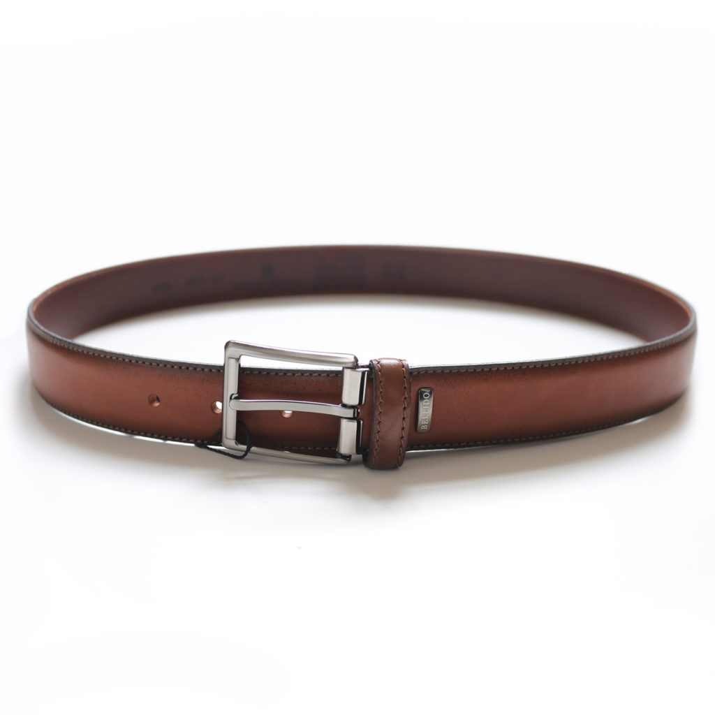 MIGUEL BELLIDO SMOOTH LEATHER TAN BELT
