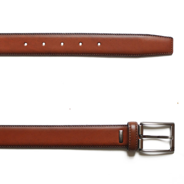 MIGUEL BELLIDO SMOOTH LEATHER TAN BELT1
