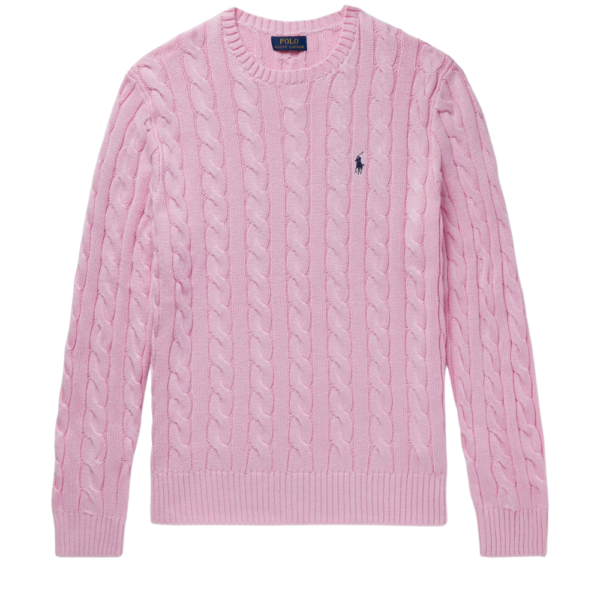 Polo Pink Cable Crew F