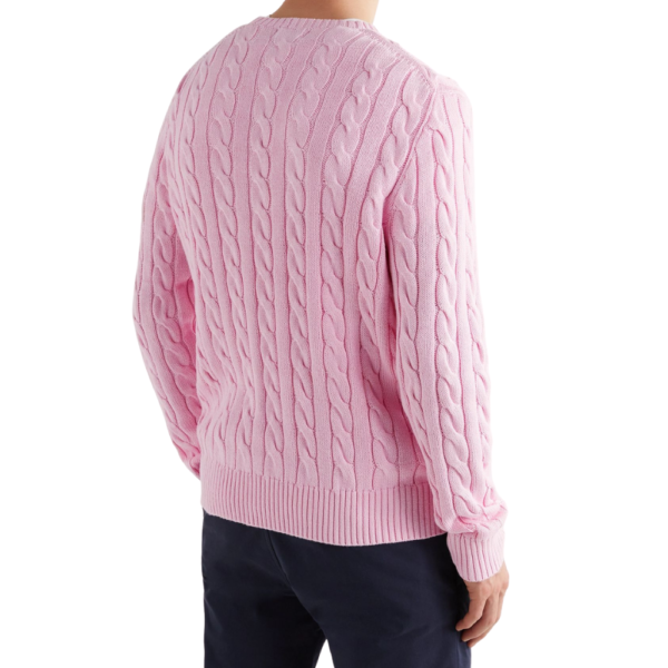 Polo Pink Cable Crew R
