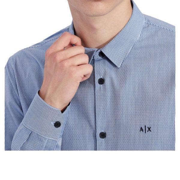 AX Blue Yarn shirt collar