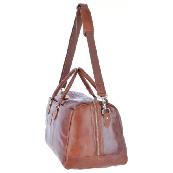 Ashwood Heritage Cognac Leather Holdall 1