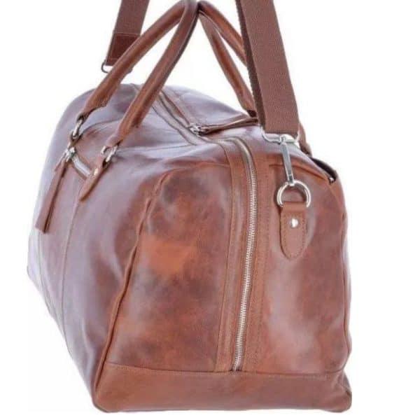 Ashwood Heritage Cognac Leather Holdall 2