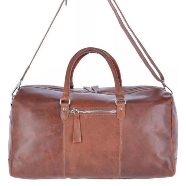 Ashwood Heritage Cognac Leather Holdall 3