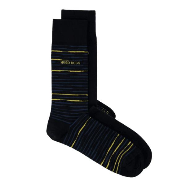 BOSS 2 sock black yellow pair
