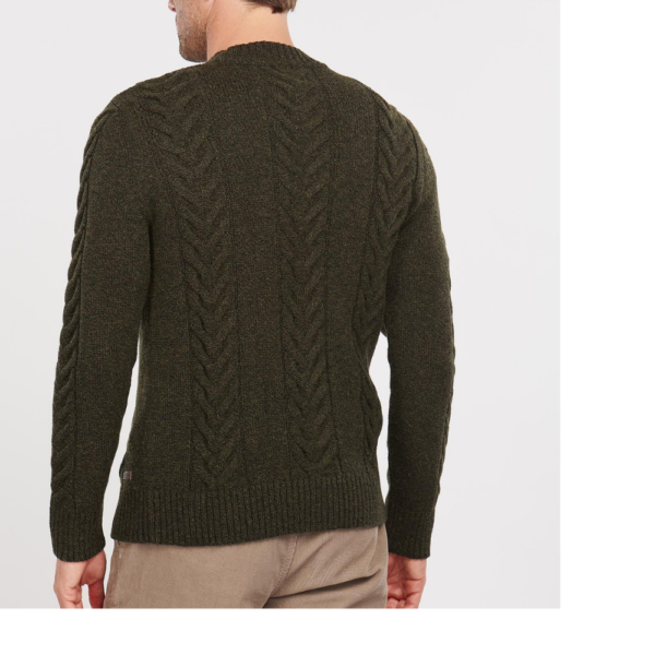 Barbour Cable Knit Olive R