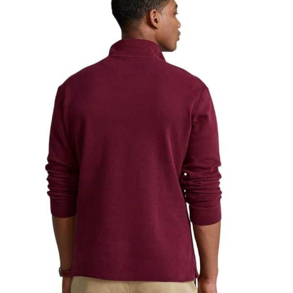 POLO RALPH LAUREN Burgundy estate rib HALF ZIP pullover 3