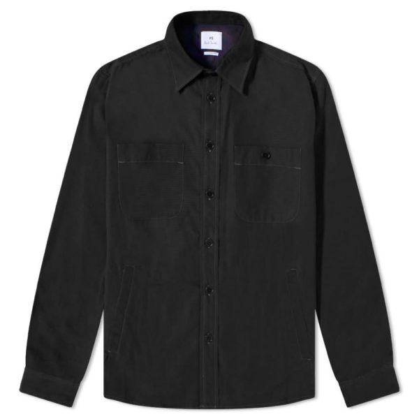PS Black Overshirt Front