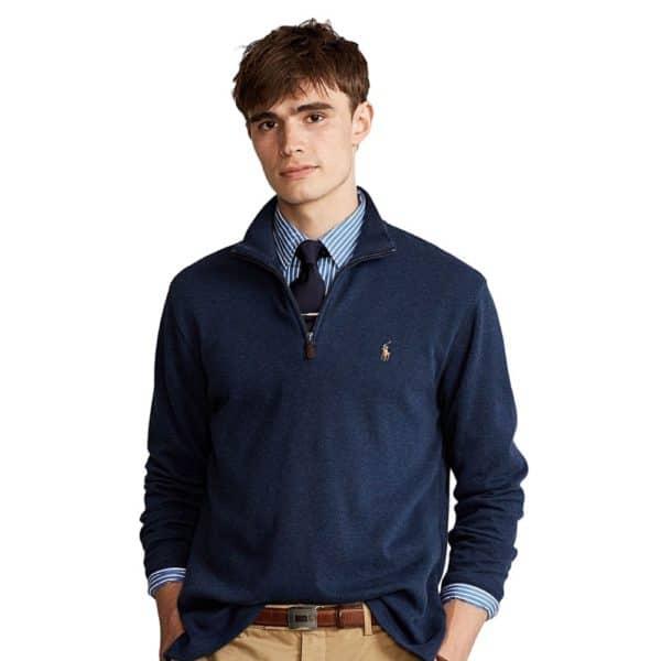 Polo Ralph Lauren Blue Hunter Half zip jumper