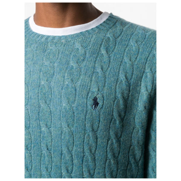 Ralph Blue Cable Knit Logo