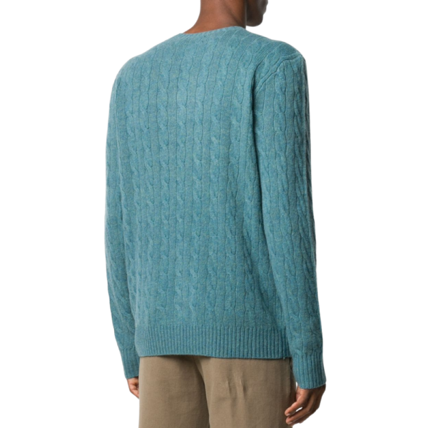 Ralph Blue Cable Knit R