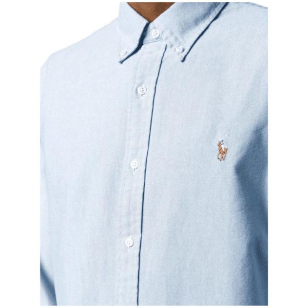 Ralph Blue Oxford Shirt Side