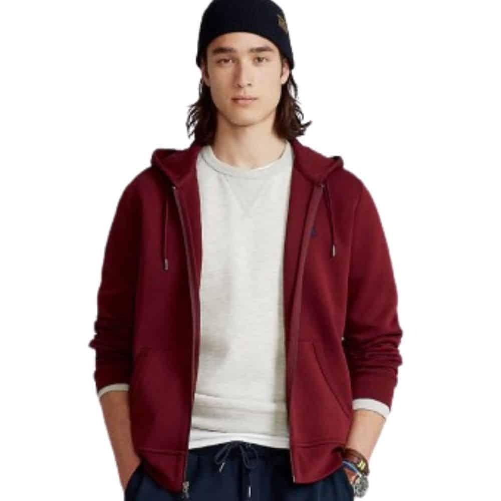 Ralph Lauren Red zip hoodie 1