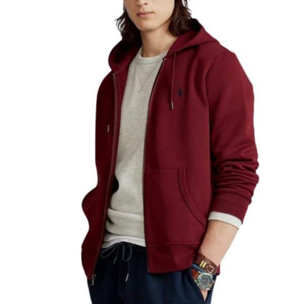Ralph Lauren Red zip hoodie