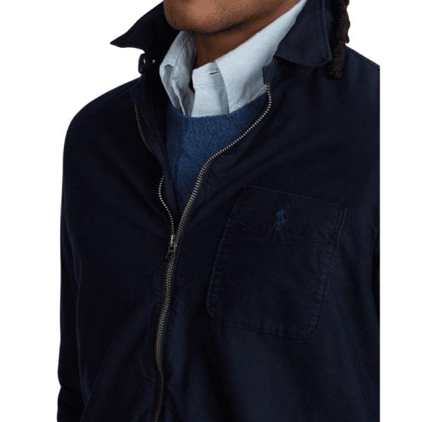 Ralph Navy Overshirt Collar