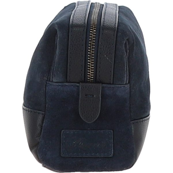 suede and leather luxury wash bag navy tom p4321 18445 image