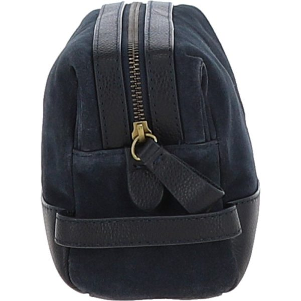 suede and leather luxury wash bag navy tom p4321 18447 image